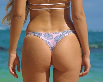 BANZAI: Reversible Brazilian Thong Bathing Suit Bottoms