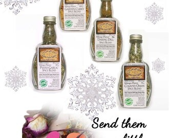 Foodie Gift - Made with Love - 4 Artisan Spice Blends Spice Gift Set Natural Spice Food Gift - Gourmet Spices Dip Mix Spice Pasta Sauce Mix