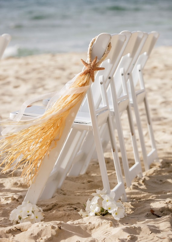 Starfish Wedding Chair Decorations