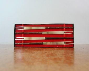 Four Vintage Fondue Forks - Ernest Sohn Style Design in Box