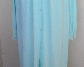 Vintage Nightgown and Robe Peignoir Set Lace Nylon Shadowline