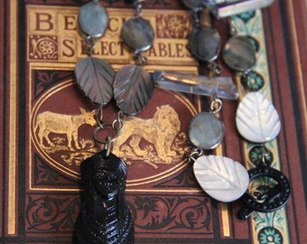 The Emperor's Jewels Antique Jet Sarcophagus Necklace