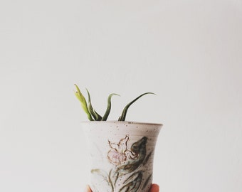 Planter // Wall Planter // Studio Pottery // Vintage Ceramic Planter // Air Plant Holder // Gifts for Her // Art Gallery Wall