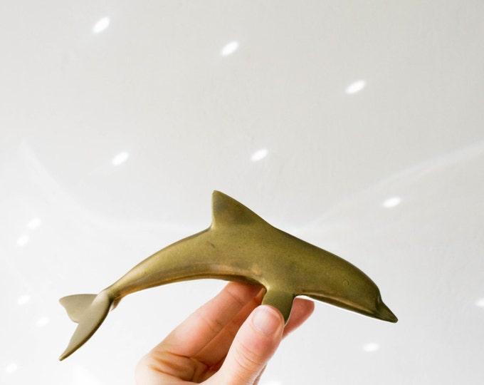 Mid Century Brass Dolphin
