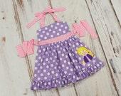 Girls Rapunzel Dress - Princess halter dress - Disney vacation dress - princess dress - Rapunzel Birthday dress - princess birthday dress