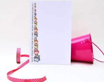 Personalized Notepad, Owl's  Club Personalized Notepad