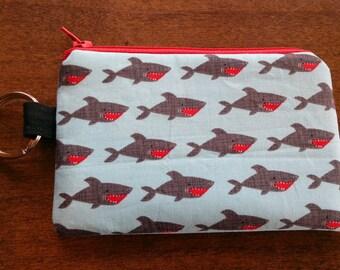 Keychain Coin Pouch - Sharks
