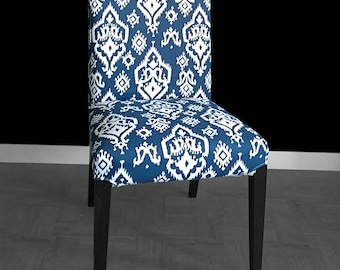 Navy Indian Print IKEA HENRIKSDAL Dining Chair Cover Style Henriksdal Slipcover