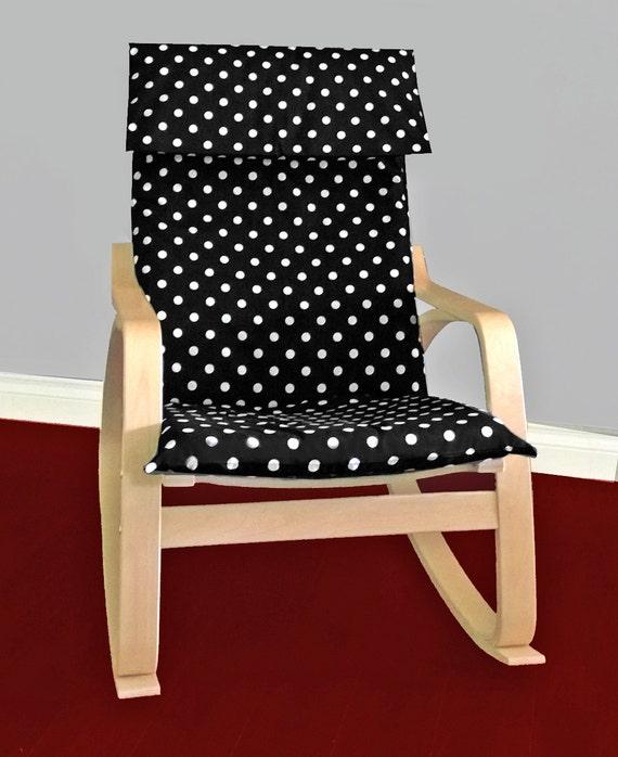 Ikea Algot Wall Upright Shelves ~ IKEA POÄNG Cushion Slipcover  Black White Polka Dot, Ready to Ship