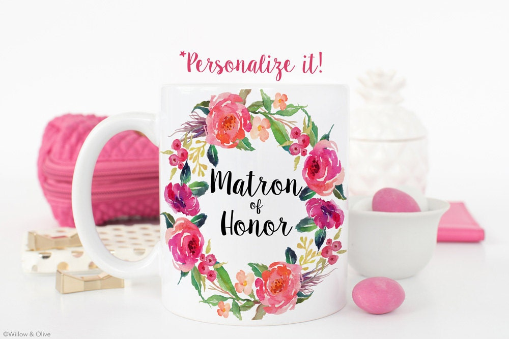 Matron Of Honor Mug Matron Of Honor Gift Matron Of Honor