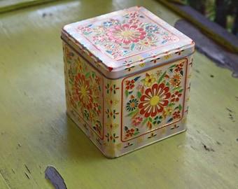 Decorative Tin, Storage Tin, Embossed Tin, Tin Box, Candy Tin, Tin, Keepsake Tin, Tin Storage, Cookie Tin, Tin Home Decor
