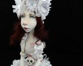 RESERVED - OOAK  Art Doll  -Ivorine ,Poisonnous Beauty -Handmade sculpture