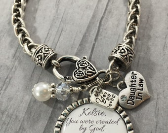Wedding Gifts For Daughter In Law : daughter in law bracelet future daughter in law gift for bride bridal ...