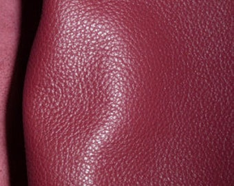 """Leather 12""""x12"""" DIVINE Cranberry Top Grain Cowhide 2.5 oz/1 mm available in hides PeggySueAlso™ E2885-35"""