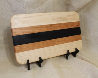 Ash, Cherry and Wenge Hardwood Cutting Board or Carving Board