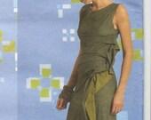 Issey Miyake wrap dress & skirt pattern for stretch knits-- Vogue Designer Original 2556
