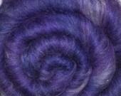 Carded batt for spinning and felting - Drum carded mixed fiber batt - Spirit Shadow - 1.9 ounces