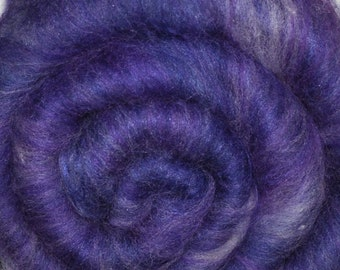 Carded batt for spinning and felting - Drum carded mixed fiber batt - Spirit Shadow - 1.9 ounces