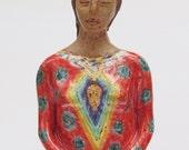 ceramic figurative sculpture; ceramic art