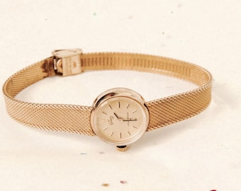 Vintage Hamilton Women's 10K Gold Filled Swiss Wristwatch, Mesh Band