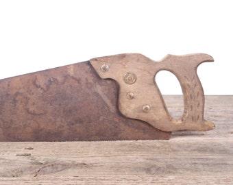 Warranted Superior Antique Saw / Vintage Hand Saw / Old Metal Saw / Vintage Tool / Wood Saw / Vintage Saw / Old Saw / Old Tools Vintage Tool