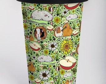 Guinea Pig Travel Mug, Guinea Pig Gifts, Guinea Pig Cup, Cute Guinea Pig Coffee Mug, Cute Guinea Pig Gifts, Guinea Pig Design, Guinea Pigs