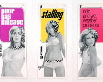 70s Napa pamphlets // pin up girls