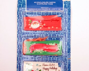 70s holiday gift tags // 64 pc