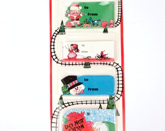 70s holiday gift tags // 58 pc
