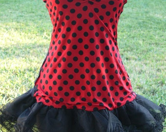 lady bug dress and bumble bee dress size med  with tu tu