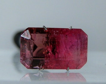 Large Rubellite Tourmaline Cut Gemstone 12.45 carats Vintage Old Stock Deep Red Gem Loose Stone 18.27 x 11.05 x 6.75 mm DanPickedMinerals