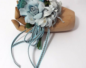 Bay Breeze Blue - Nosegay/Small Bouquet/Tussie Mussie/Corsage