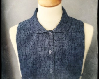 decorative shirt collar bib made from a piece of vintage kimono