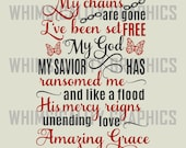 Digital File - My Chains Are Gone Wording with SVG, DXF, PNG Commercial & Personal Use