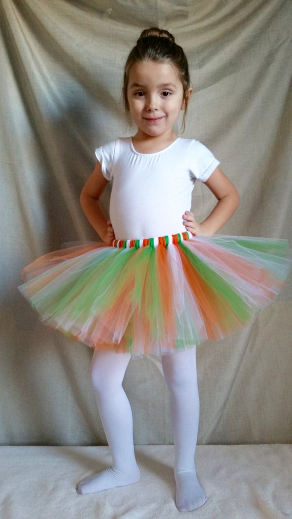 Irish Tutu, Orange Green White Tutu, Babies Tutu, Toddler Tutu, Holidays, St Patricks Day Tutu, Irish Flag Colors