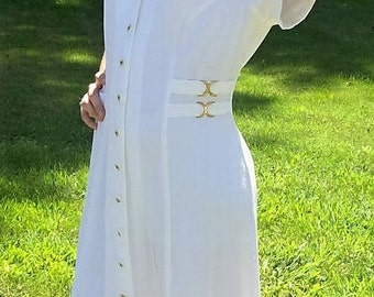 Vintage 80s Ladies White Princess Style Dress by Casual Corner Size 11/12 Only 15 USD