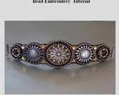 Tutorial , Bead embroidery ,Beading pattern , Instructions only, Steel bracelet
