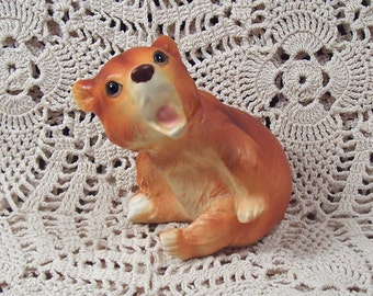 SALE Vintage Lefton Bear Figurine Numbered Mint So Cute