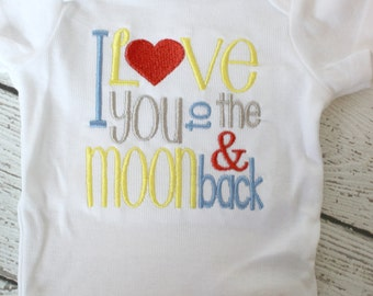 New Baby Boy or Girl Onesies® Brand , Boys Take Home Outfit,  Girls Take Home outfit,  Love You To The Moon Onesies® Brand, Gender Neutral