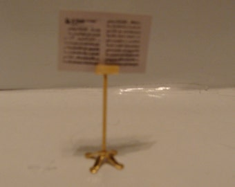 Brass Music Stand Miniature for Dollhouse