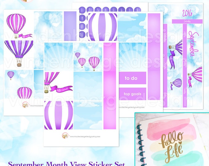 BIG Happy Planner September Month View Kit - sized to fit the MAMBI Big Happy Planner