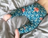 Kids Spring, Toddler boys leggings, Baby Boys Leggings, boys clothing, Fox Baby Leggings, baby harem leggings, boys harem pants kids fall