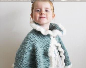 Crochet Pattern: The Elizabeth Royal Cape-Toddler, Child, & Adult Sizes-cape, queen, princess, dress-up, costume, royal, fancy
