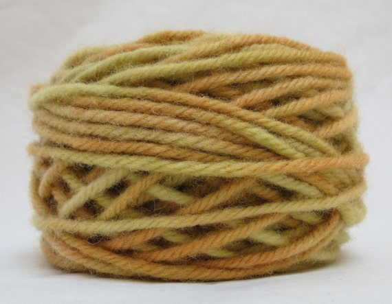 MARIGOLD, 100% Wool, 2 oz 43 yards, 4-Ply Bulky weight or 3-ply Worsted weight yarn, already wound into cakes, ready to use, made to order.