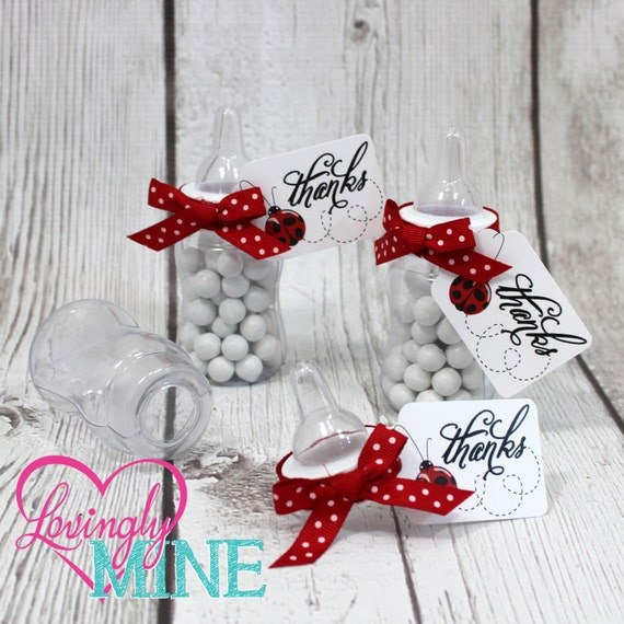 Items Similar To Red & Black Ladybug Baby Shower Favors