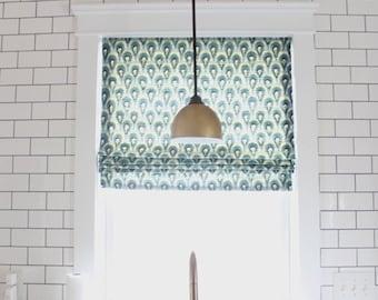 Custom Flat Roman Shade  Window Treatment | Simple Stylings Blog | Designer Quality