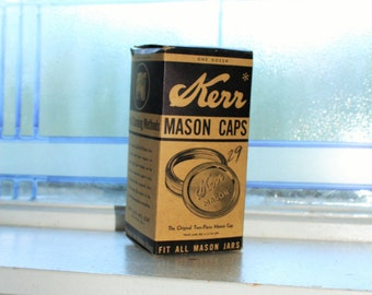 Kerr Mason Jar Lids EMPTY Box Vintage 1930s Farmhouse Decor