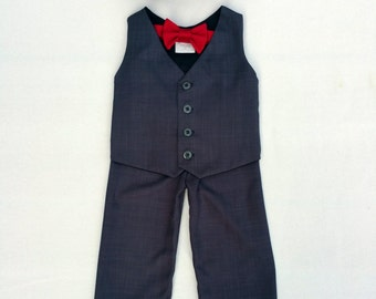 Ring Bearer, Ring Bearer Outfit, Baby Boy, Baby Suit, Toddler, Newsboy Suit, Newsboy Hat, Vest, Charcoal, Valentines, Ring Boy, Page Boy