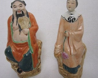 Chinese Porcelain Immortals, Pair