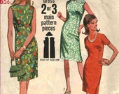 PATTERN Simplicity 7010 A-line simple shell dress round neckline with/out short sleeves Size 14 Jiffy